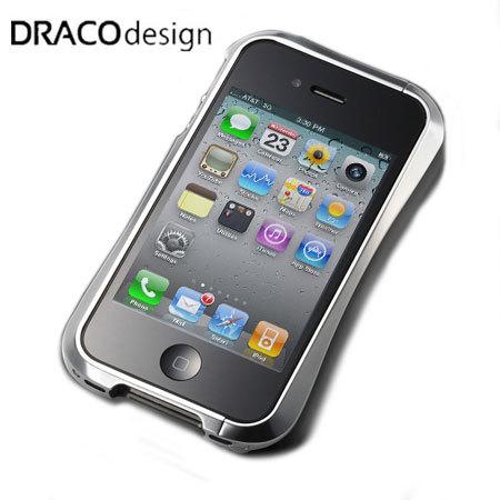 Draco IV Design Aluminium Bumper for the iPhone 4S / 4 - Silver