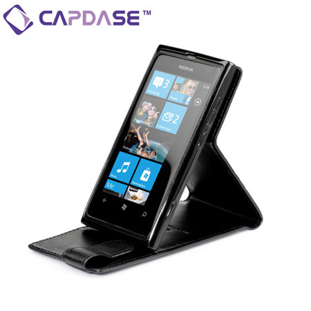 Capdase SmartFlip Case For Nokia Lumia 800 - Black