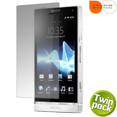 Martin Fields Screen Protector Twin Pack - Sony Xperia S