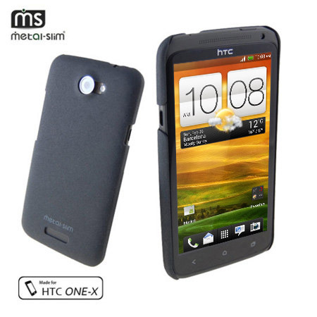 Metal-Slim UV Protective Case for HTC One X - Graphite