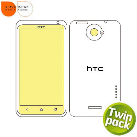 Martin Fields Screen Protector Twin Pack - HTC One X / XL
