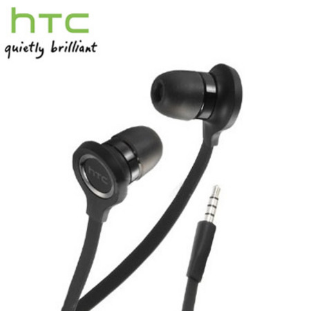 HTC RC E190 Flat Cable Hands-Free Kit Headset - Black