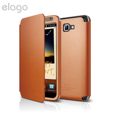 Elago G4 Handmade Leather Flip Case - EL-G4LE-FOL