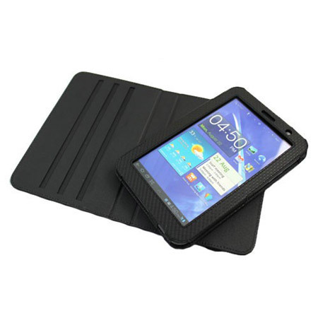 Leather Style Rotating Case for Galaxy Tab 2 (7.0) - Black