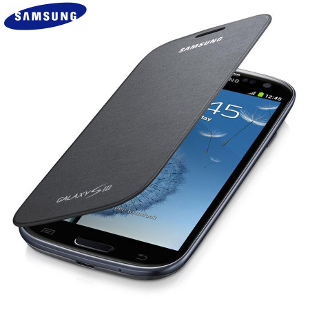 Genuine Samsung Galaxy S3 Flip Cover Sapphire Black Titanium