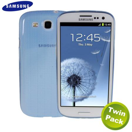 Genuine Samsung S3 Slim Case - Blue - EFC-1G6SBEC - Twin Pack