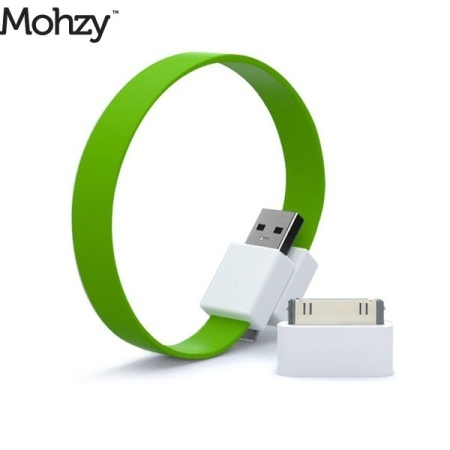 Mohzy Loop Micro USB & Apple iPhone / iPad / iPod Cable - Fresh Lime
