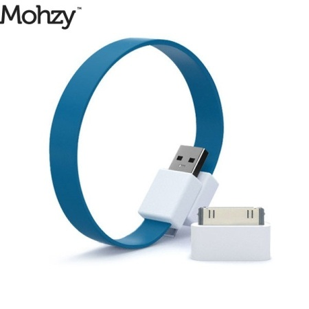 Mohzy Loop Micro USB & Apple iPhone / iPad / iPod Cable - Tidal Blue