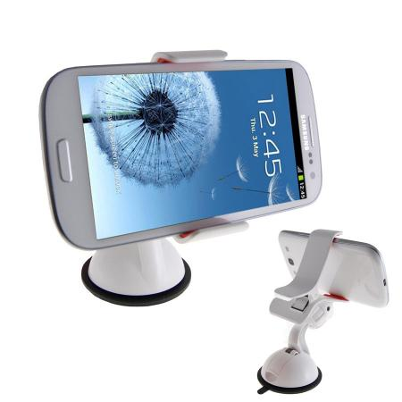 SuperGrip Universal Case Compatible In Car Mount - White
