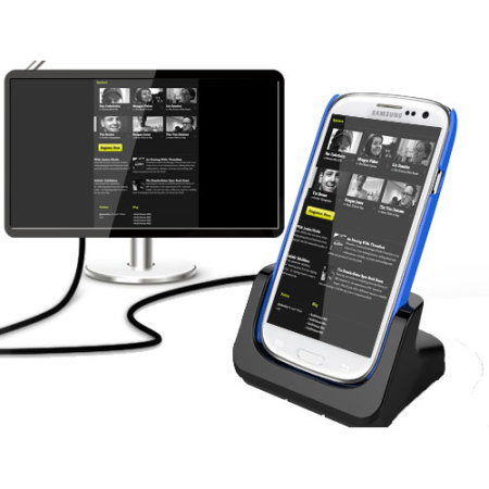 Samsung Galaxy S4 / S3 Case Compatible HDMI Charging Dock