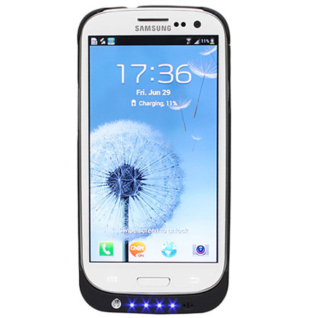 Samsung Galaxy S3 Battery Case 2200 mAh - Black