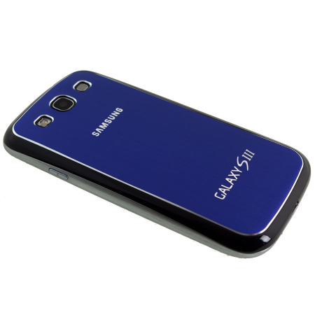 Cache-Batterie de Rechange Samsung Galaxy S3 Metal – Bleu foncé