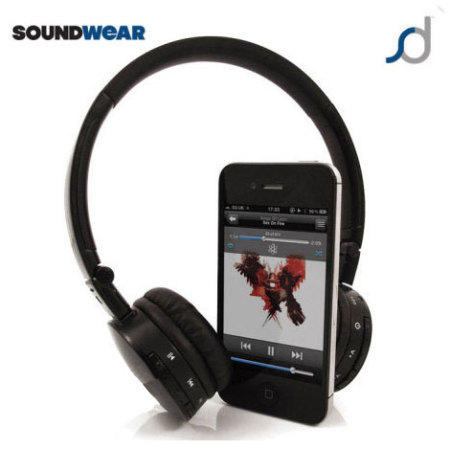 SoundWear SD50 Stereo Bluetooth Headset - Black