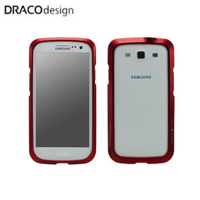 Draco Design Aluminium Bumper for Samsung Galaxy S3 - Flare Red