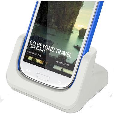 Samsung Galaxy S4 / S3 Case Compatible Dock - White
