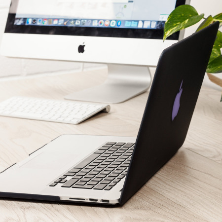 Olixar ToughGuard Satin MacBook Pro 15 with Retina Hard Case - Blac