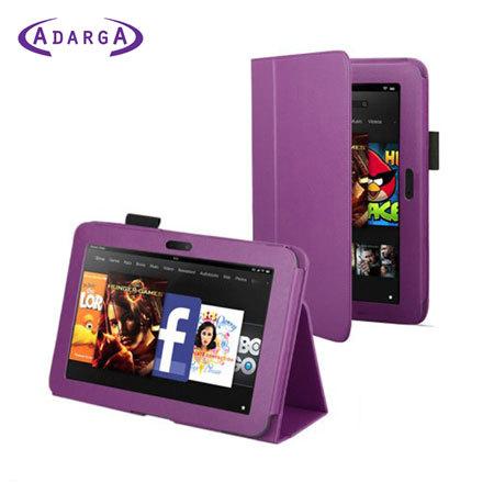 Adarga Folio Stand Case for Amazon Kindle Fire - Purple