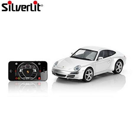 voiture t l command e par application apple porsche 911 silverlit grise. Black Bedroom Furniture Sets. Home Design Ideas
