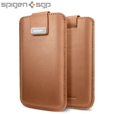 26412975788 Funda de cuero iPhone 5S / 5 Crumena de SPG - Marrón