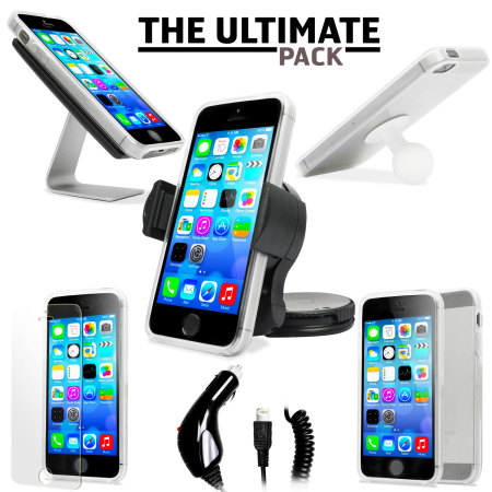 pack accessoires iphone 5s 5 ultimate blanc avis. Black Bedroom Furniture Sets. Home Design Ideas