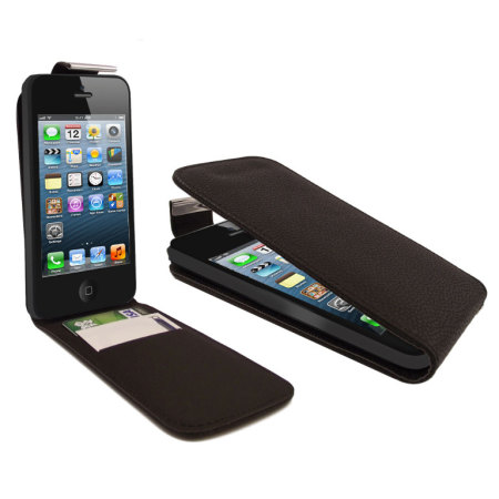 iPhone 5S / 5 Flip Case - Black