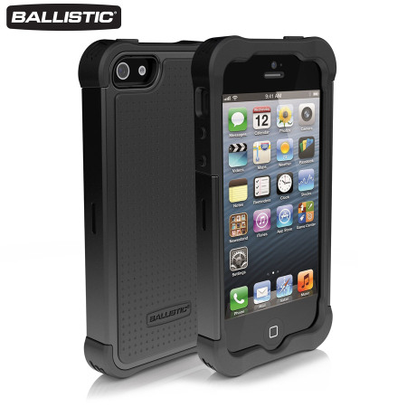 Ballistic Shell Gel Case for iPhone 5S / 5 - Black