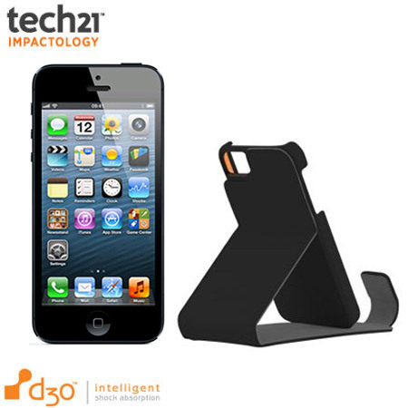 Tech21 D3O Impact Leather Flip Case for iPhone 5S / 5 - Black