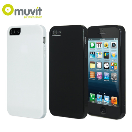Muvit miniGEL Glazy Cases Twin Pack for iPhone 5S / 5 - Black / White