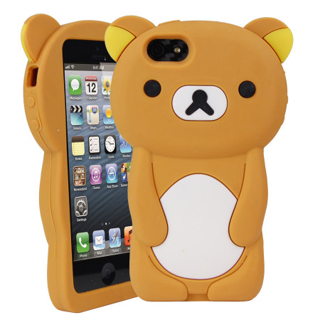 low priced cc5fc 8565b Teddy Bear Silicone Case for iPhone 5S / 5