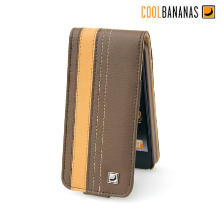 Cool Bananas SmartGuy Leather Flip Case for iPhone 5S / 5 - Chocolate