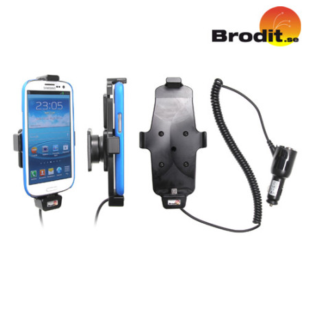 Brodit Case Compatible Active Holder with Swivel For Samsung Galaxy S3