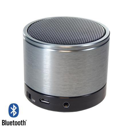 soundwave ii bluetooth speaker phone silver black. Black Bedroom Furniture Sets. Home Design Ideas