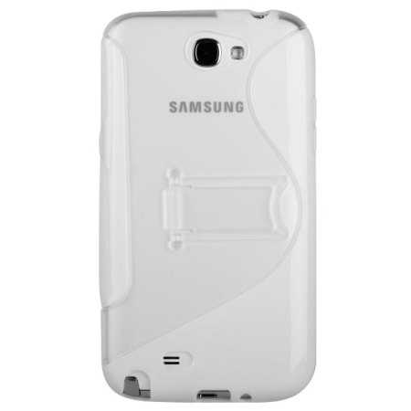 FlexiShield Wave Stand Case For Samsung Galaxy Note 2 - Clear / White