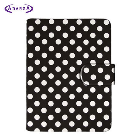 Adarga Leather Style Kindle Paperwhite Cover - Polka Black