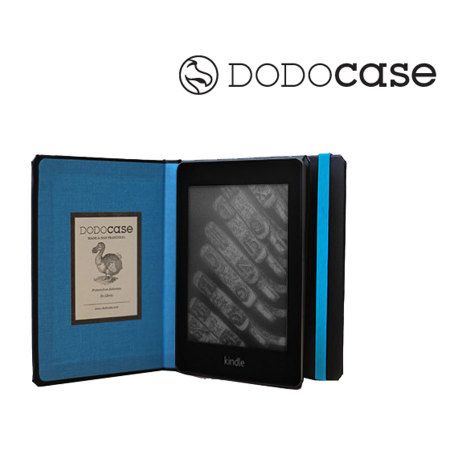 Housse kindle paperwhite hardcover dodocase bleue for Housse kindle paperwhite