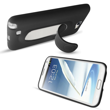 SD Smart Stand Case for Samsung Galaxy Note 2 - Black