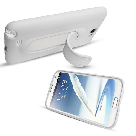SD Smart Stand Case for Samsung Galaxy Note 2 - White
