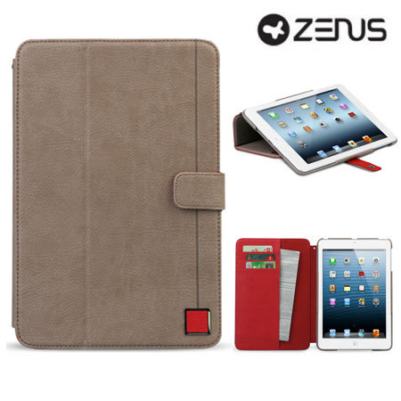 zenus masstige color point folio ipad mini 3 2 1 case beige red. Black Bedroom Furniture Sets. Home Design Ideas
