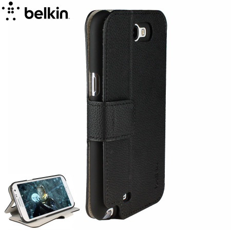 Belkin Snap Folio Case for Samsung Galaxy Note 2 - Black