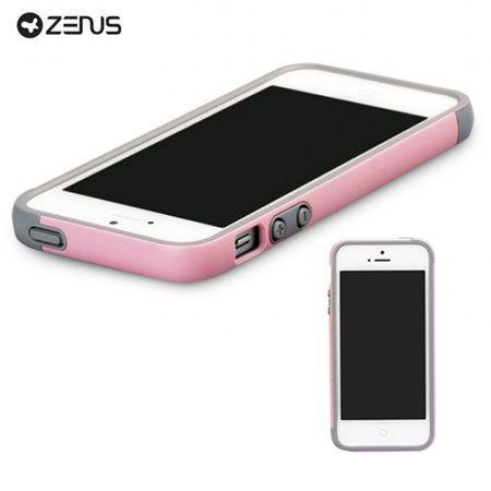 Zenus Bumper Trio Series Case for iPhone 5S / 5 - Pink/Purple