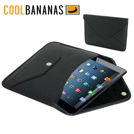 Cool Bananas Leather Envelope V1 iPad Mini 3 / 2 / 1 Case - Black