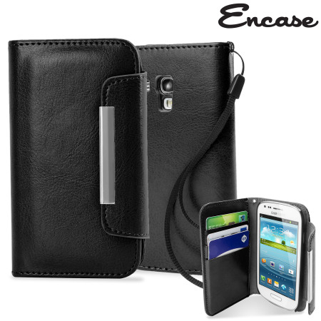 competitive price 6aed3 421d0 Leather Style Wallet Case for Samsung Galaxy S3 Mini - Black