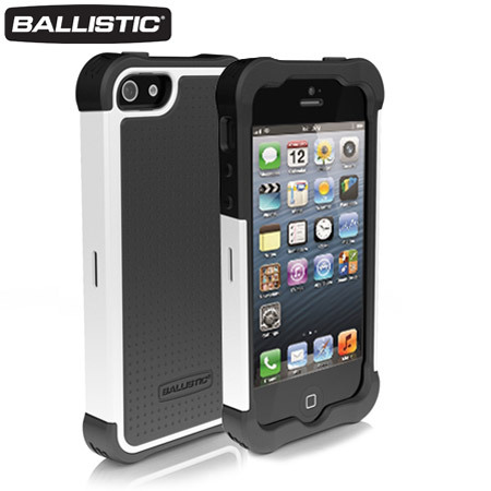 Ballistic Shell Gel Case for iPhone 5S / 5 - White/Charcoal