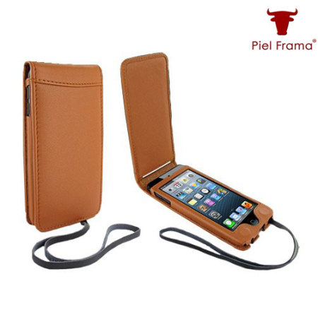 hot sales 4f484 a8485 Piel Frama iPod Touch 6G / 5G Leather Flip Case - Tan