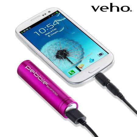 Veho Pebble Smartstick Portable Charger 2000mAh - Pink