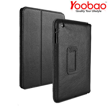 YooBao Leather Case/Stand for iPad Mini 2 / iPad Mini - Black