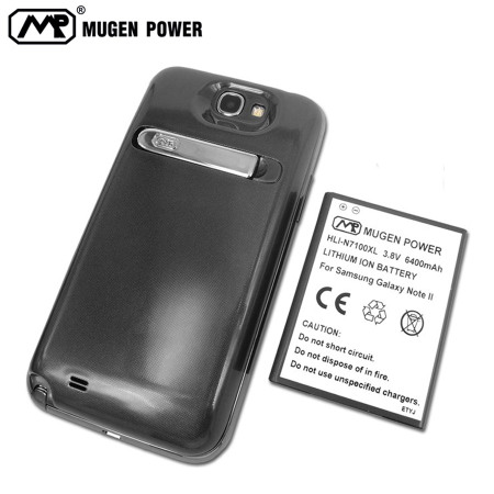 Mugen Samsung Galaxy Note 2 Extended Battery & Cover 6400mAh - Grey
