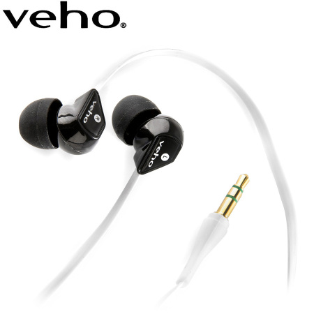 Veho 360 Noise Isolating Oortelefoontjes met Antiknoop - Wit
