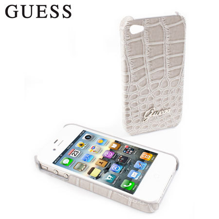 Funda iPhone 4S / 4 Guess - Cocodrilo color crema