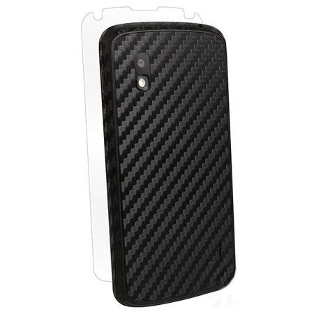 BodyGuardz Carbon Fibre Armor Skin for LG Nexus 4 - Black